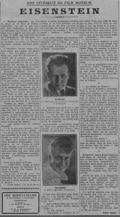 Comoedia du 2 décembre 1929