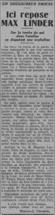 Comoedia du 6 janvier 1935