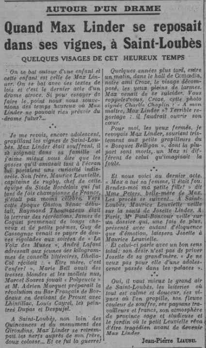 Comoedia du 7 janvier 1935