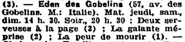 La Semaine à Paris du 06 décembre 1929
