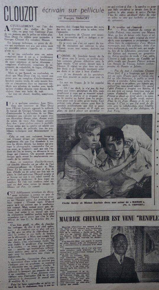 L'Ecran français du 25 avril 1948