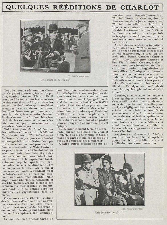 paru dans Cinéa du 15 décembre 1922