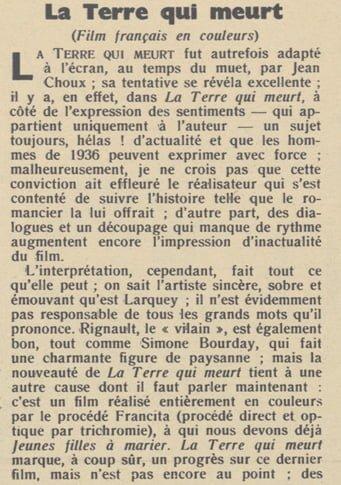 paru dans Pour Vous du 30 Avril 1936