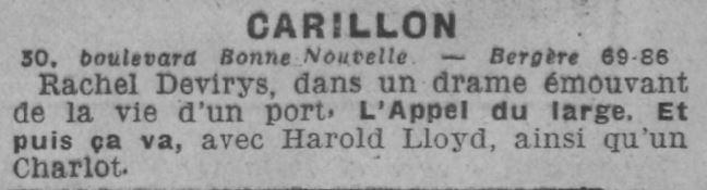 Comoedia du 7 novembre 1930