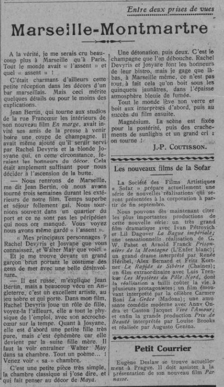 Comoedia du 10 août 1929