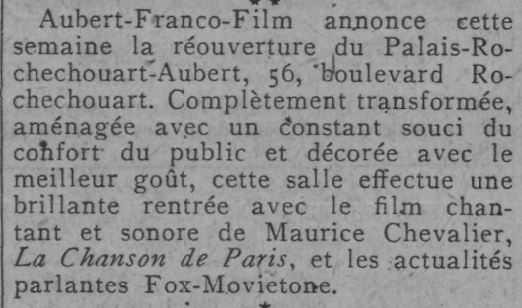 Comoedia du 30 novembre 1929