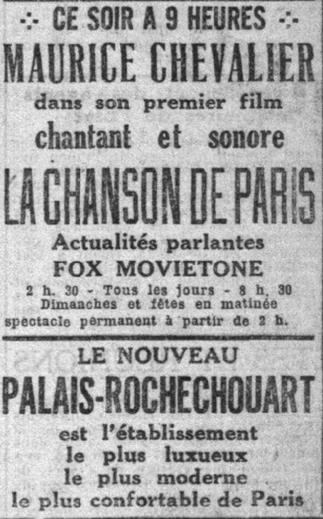 Le Petit Parisien du 29 novembre 1929