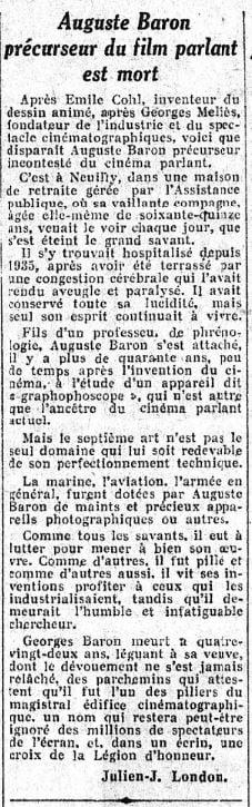 paru dans Le Figaro du 4 juin 1938