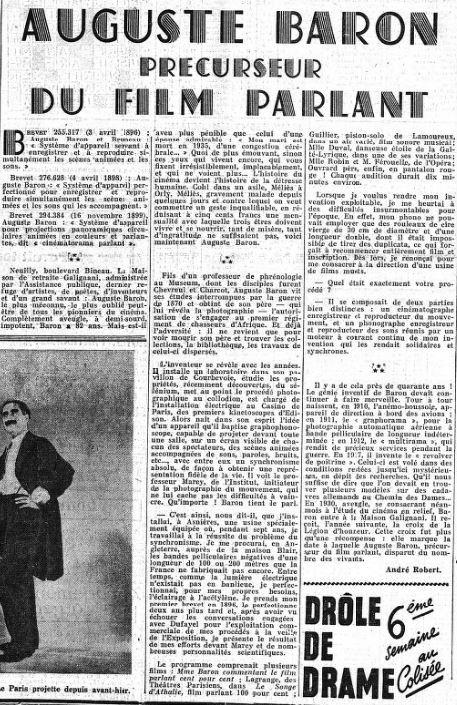 paru dans Le Figaro du 26 novembre 1937