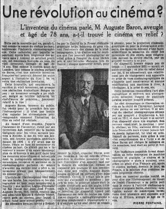 paru dans l'Intransigeant du 12 octobre 1933
