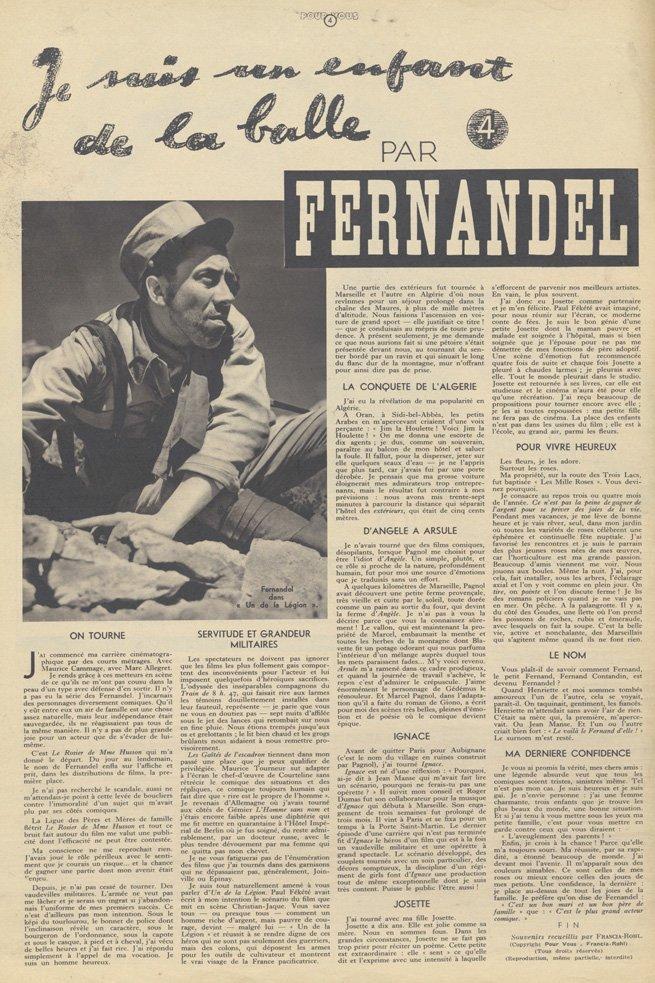 paru dans Pour Vous du 8 avril 1937