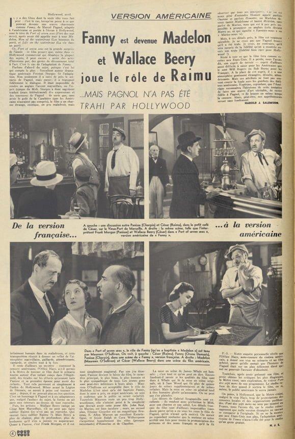 paru dans Pour Vous du 11 mai 1938