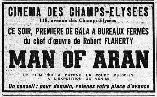 paru dans L'Intransigeant du 11 décembre 1934