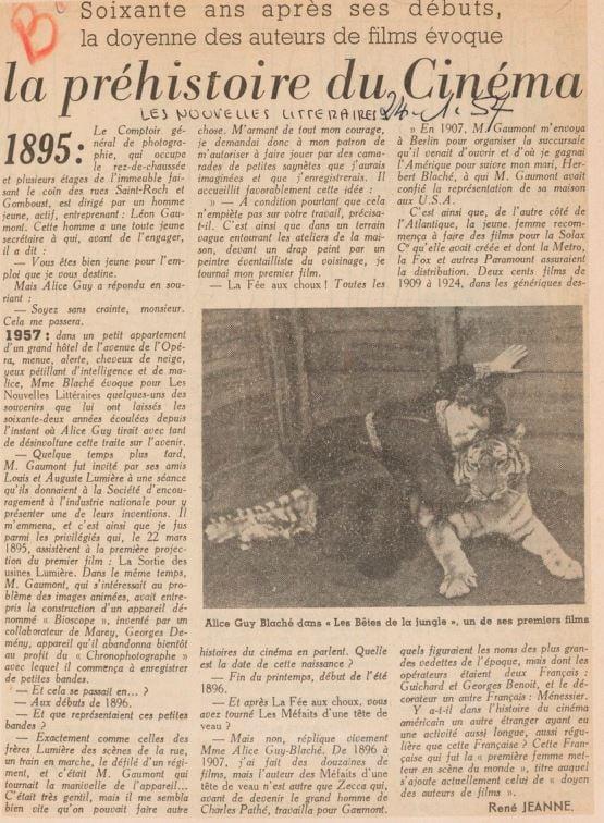 paru dans Les Nouvelles Littéraires du 24 janvier 1957