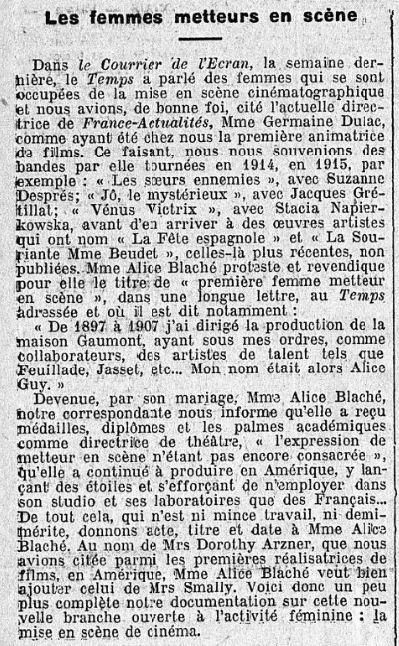 paru dans Le Temps du 30 septembre 1933
