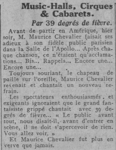 Paru dans Comoedia du 08 octobre 1928