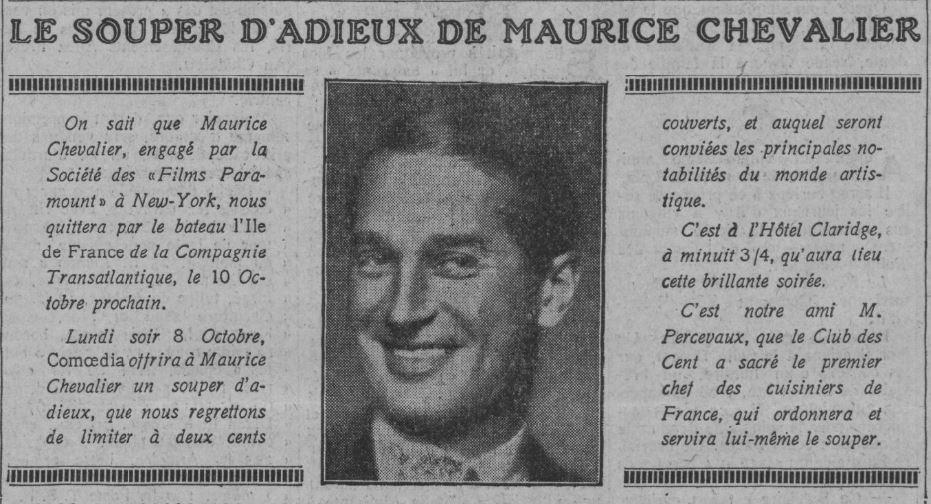 Paru dans Comoedia du 29 septembre 1928