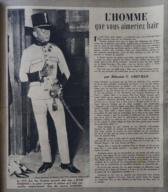 paru dans L'Ecran Français du 19 décembre 1945