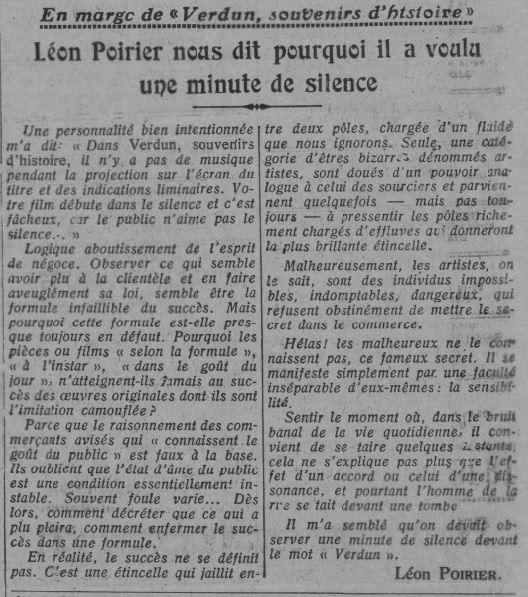 paru dans Comoedia du 6 novembre 1931
