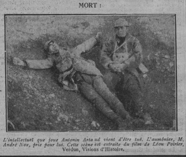 paru dans Comoedia du 8 août 1928