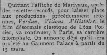 paru dans Comoedia du 9 février 1929