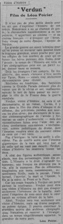 paru dans Comoedia du 11 février 1927