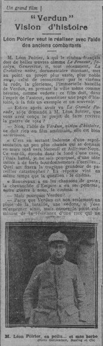 paru dans Comoedia du 18 janvier 1927