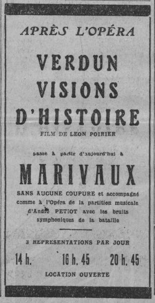 paru dans Comoedia du 21 novembre 1928