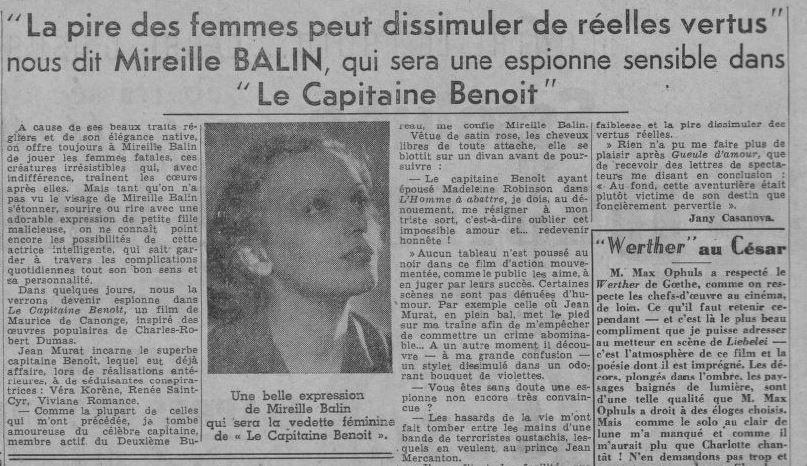 paru dans Paris-Soir du 15 décembre 1938