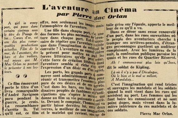 paru dans Pour Vous du 22 novembre 1928