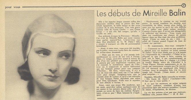 paru dans Pour Vous du 6 Avril 1933