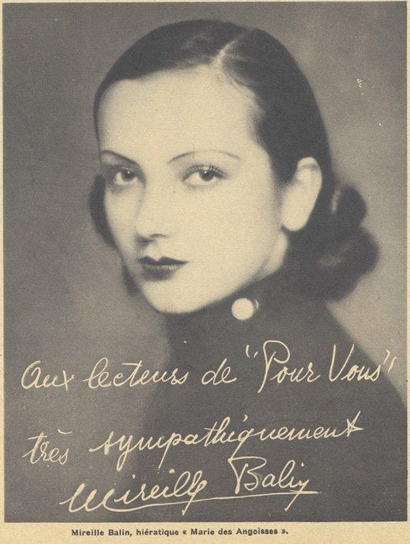 paru dans Pour Vous du 1 Août 1935