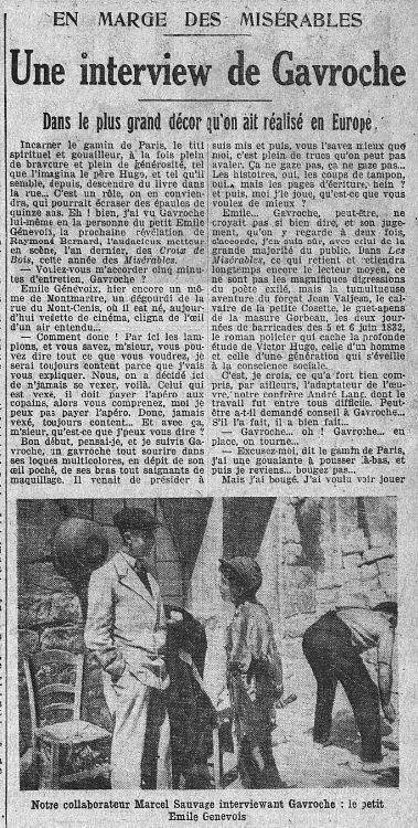 paru dans L'Intransigeant du 15 mai 1933