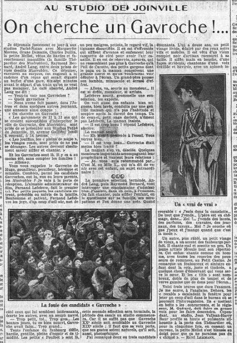 paru dans L'Intransigeant du 18 février 1933