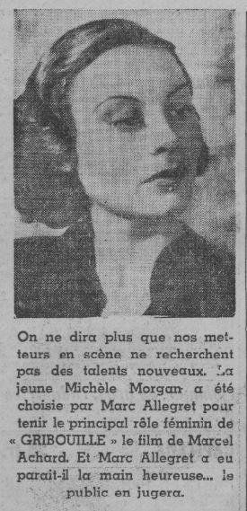 paru dans Paris-Soir du 9 septembre 1937