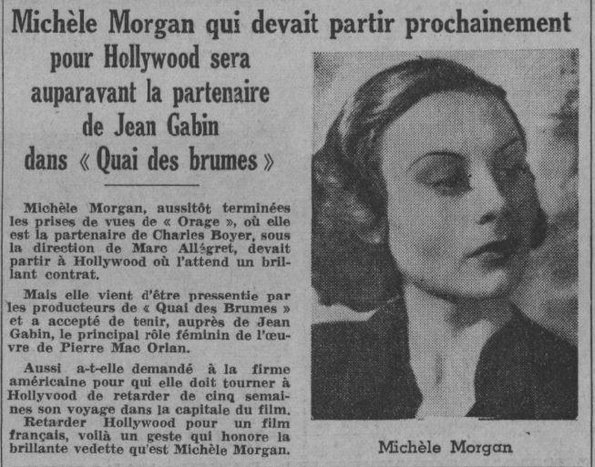 paru dans Paris-Soir du 9 décembre 1937