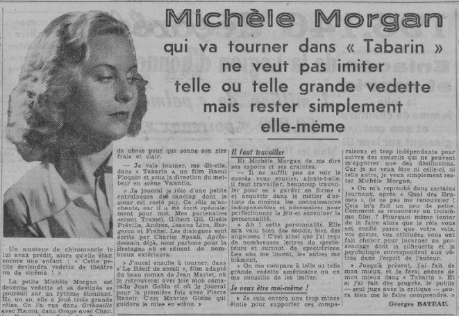 paru dans Paris-Soir du 10 juillet 1938