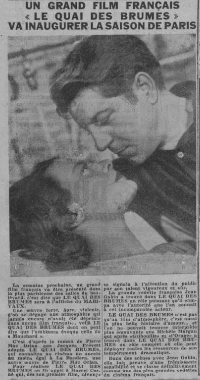 paru dans Paris-Soir du 12 mai 1938
