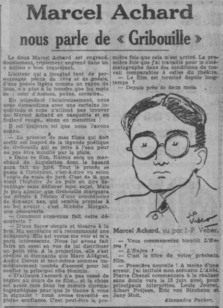 paru dans Paris-Soir du 25 mai 1937