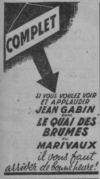 paru dans Paris-Soir du 24 mai 1938