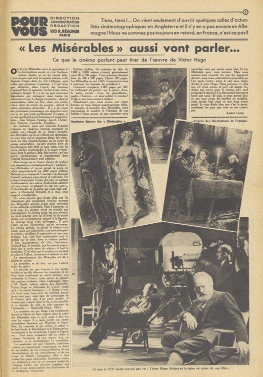 paru dans Pour Vous du 18 Août 1933