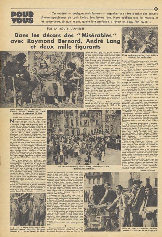 paru dans Pour Vous du 4 Mai 1933
