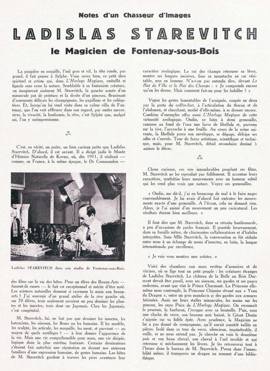 paru dans Cinéma de mai 1929