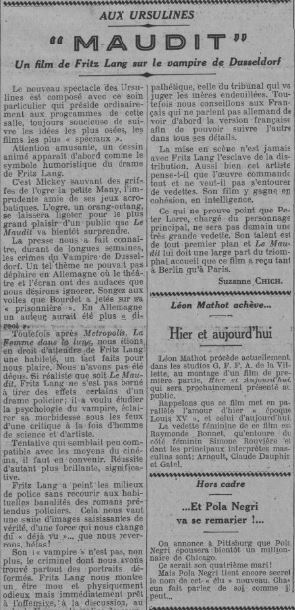 paru dans Comoedia du 18 avril 1932