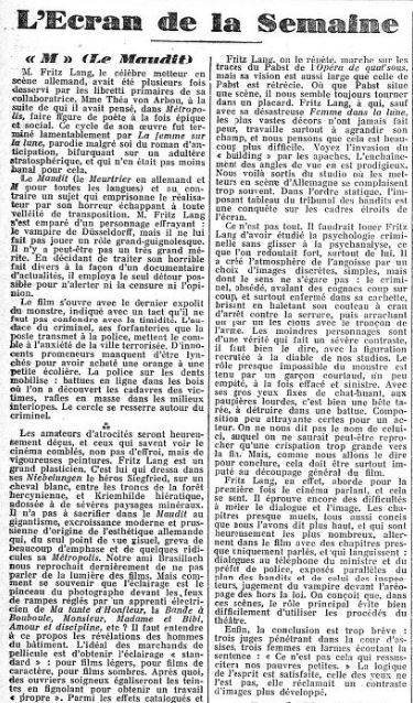 paru dans l'Action française du 15 avril 1932