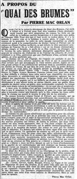 paru dans Le Figaro du 18 mai 1938