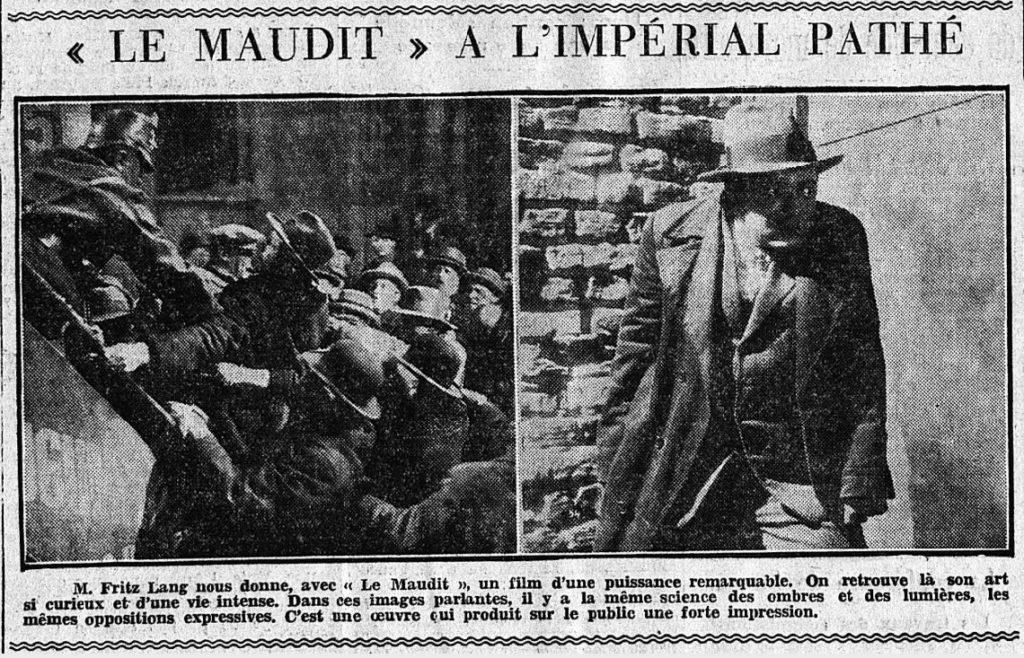 paru dans Le Matin du 09 septembre 1932