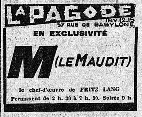 paru dans Le Matin du 30 septembre 1932