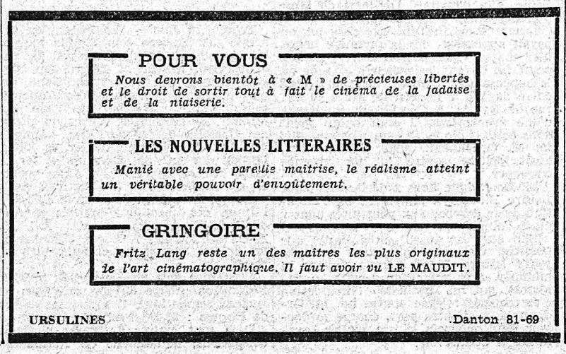 paru dans Le Petit Journal du 11 juin 1932