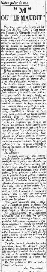 paru dans L'Humanité du 3 juin 1932